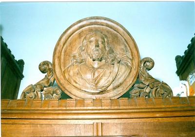 medaillon met buste Jezus Christus