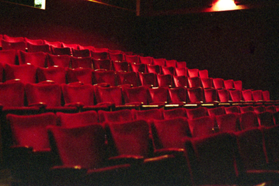 Speelzaal Theater Corso - vanaf podium (côté cour)
