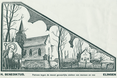 Bedevaartvaantje, Sint-Benediktus, Elingen