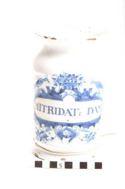 Delfts blauwe apothekerspot; MITRIDAT: DAM