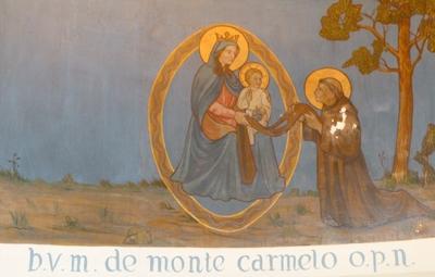 Mariale taferelen zij-altaar