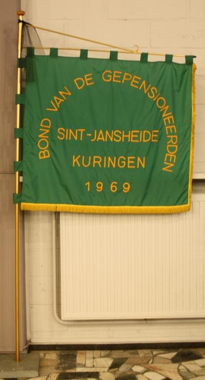Vlag van de bond van de gepensioneerden Sint-Jan Kuringen