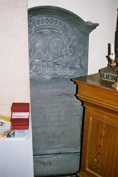 gendenkplaat Hendrik baron de Rosen en Maria Ludovica barones van der Heyden aBlisia
