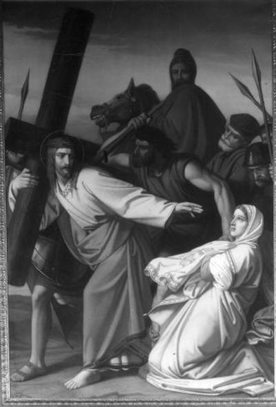 6e statie van de kruisweg, Veronica droogt het aangezicht van Jezus