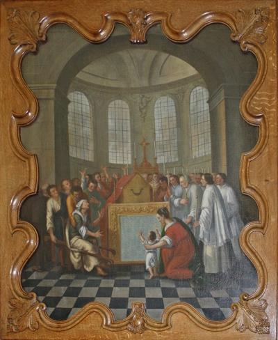 Verering van de relieken van de heilige Odilia van Hoei