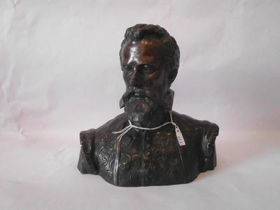 Bronzen buste van edelman
