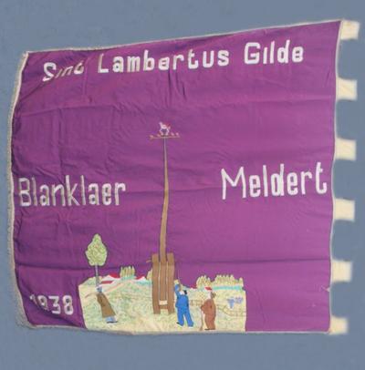 Vlag van de boogschuttersvereniging Sint-Lambertus Blanklaar Meldert