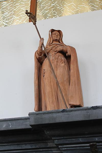 Beeld van Sint-Gertrudis in terracota