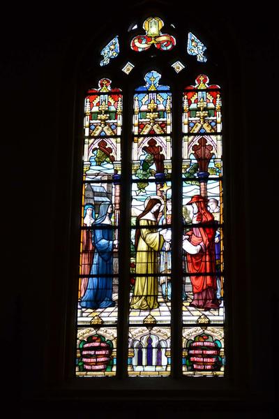 Overhandiging van brief aan H. Eva van Saint-Martin