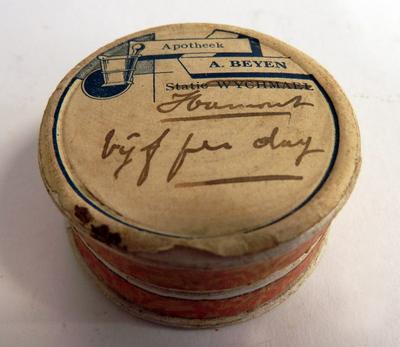 Pillendoosje apotheek A. Beyen