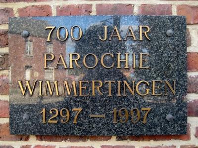 Gedenkplaat Wimmertingen 1297 - 1997