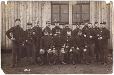 Krijgsgevangenkamp Soltau, 1915, groepsfoto met Overpeltenaren
