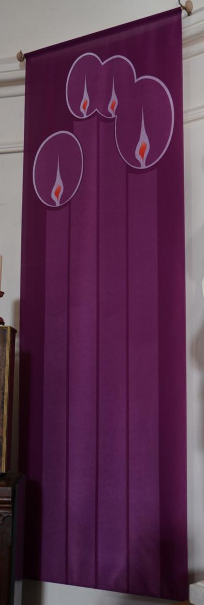 Set wandtapijten in de vier liturgische kleuren