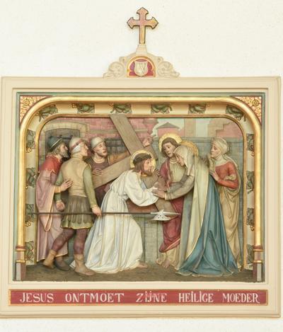 Vierde statie: Jezus ontmoet zijne heilige moeder
