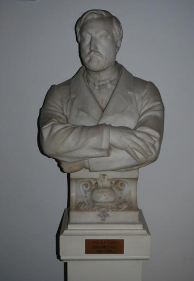 Buste Paul Claes door Cyprien Godebski, ca. 1870