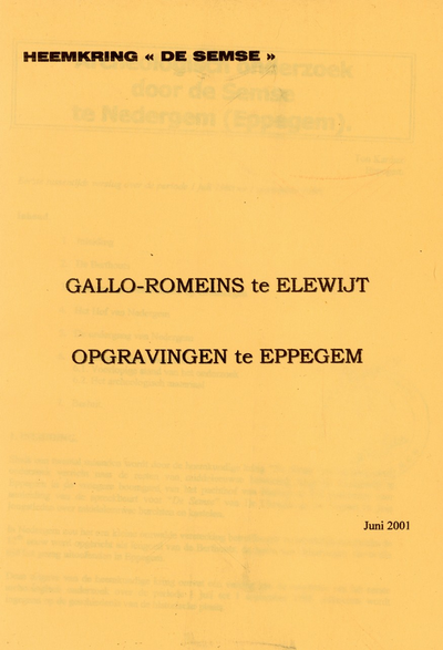Gallo-Romeins te Elewijt, opgravingen te Eppegem