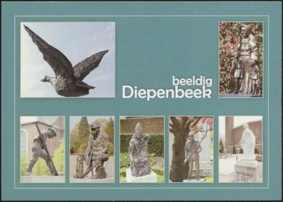 Diepenbeek, koorddansend op de Demer. Beeldig Diepenbeek 1. Vogels (Reitje) 2. Zuster Ursulin (Centrum) 3. Alvermenneke (Centrum) 4. Mijnwerker (Rooierheide) 5. Sint-Servaas (Centrum) 6. Vlegeldorser (Crijt) 7. Pettemesjödder (Lutselus)