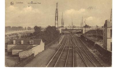 Landen. De nieuwe brug over spoorweg - Le Nouveau Pont