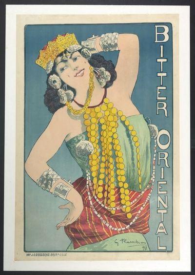 Exterieuraffiche 'Bitter Oriental', voor stokerij Henri de Schoonen, Brussel, 1897