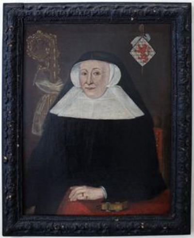 Portret van Mechtildis de Lechy, abdis van Herkenrode (1519-1548)