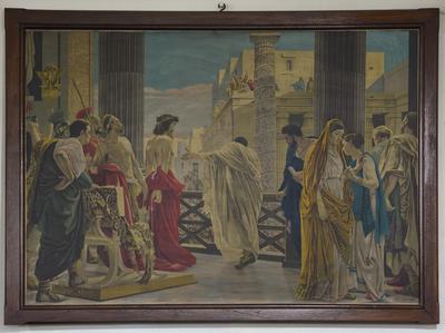 Schilderij 'Christus voor Pilatus'