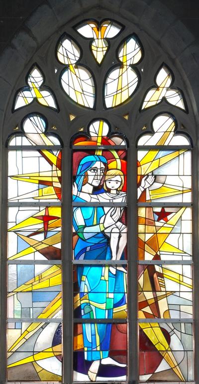 glas-in-loodraam Onze-Lieve-Vrouw met Kind