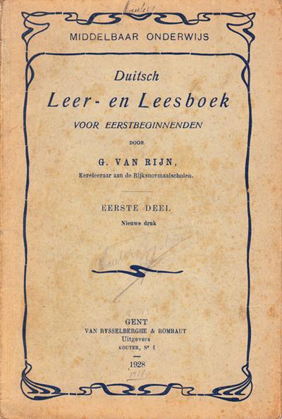 Duitsch Leer- en leesboek voor eerstbeginnenden