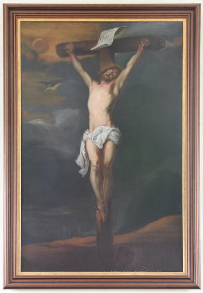 Schilderij 'Christus aan het kruis'