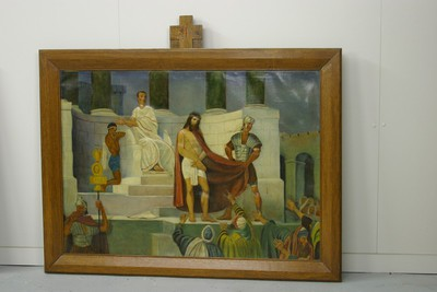 Kruisweg statie 1 : Christus wordt ter dood veroordeeld