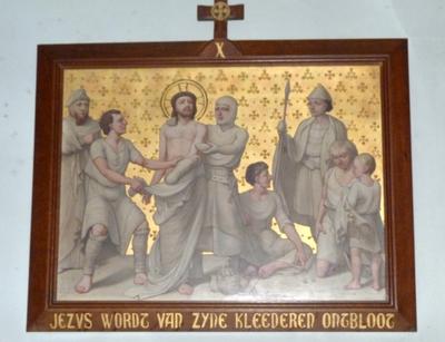 Jezus wordt van zijn kleren ontbloot