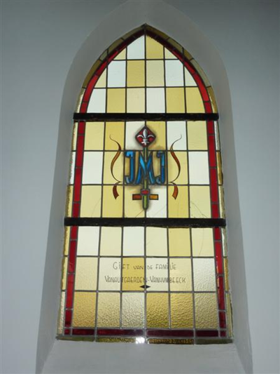 Glasraam van J M J (Jezus Maria Jozeph)