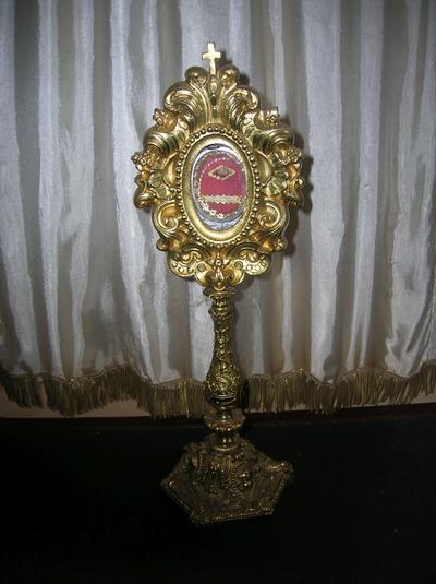 reliekhouder met een relikwie van Sint-Jan-Baptist de la Salle