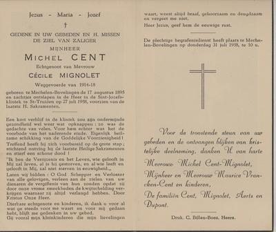 doodsprent van Cent Michel