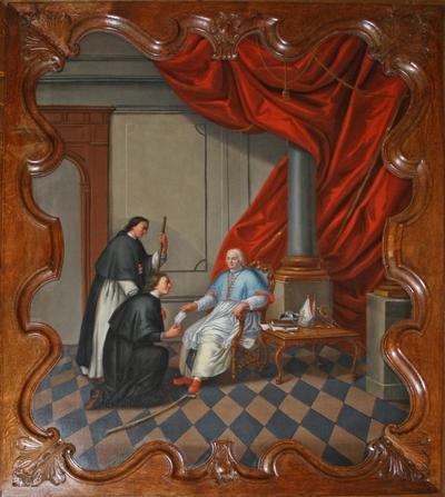 Johannes van Eppa neemt een brief in ontvangst van de prior
