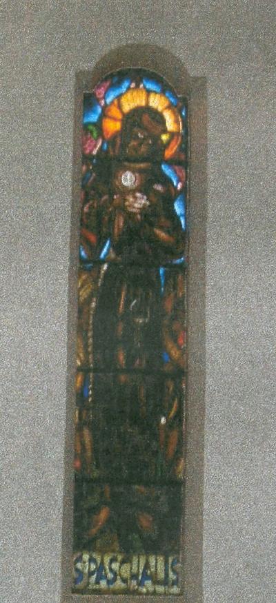 glasramen H. Paschalis Baylon en Spaanse Franciscaan en H. Clara van Assisi