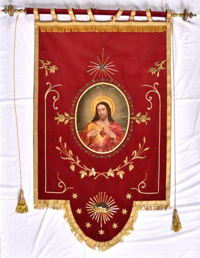 Vaandel met Heilig Hart van Christus