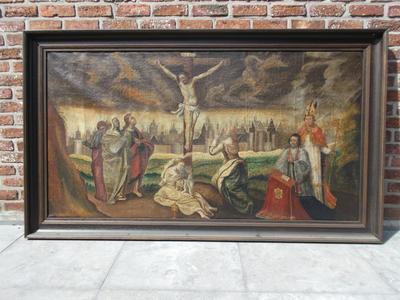 Olieverf op doek  Kruisdood van Christus