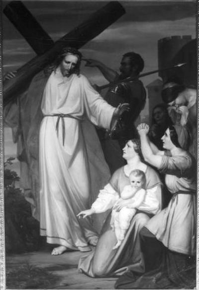 8ste statie van de kruisweg, Jezus troost de wenende vrouwen