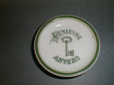Onderzetter 'Genièvre, Anvers' voor Meeùs, Antwerpen, ca. 1895-1910