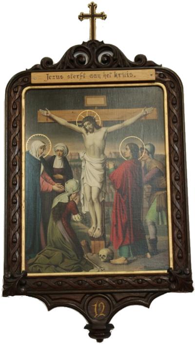 Statie 12: Jesus sterft aan het kruis.