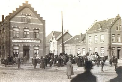 Duitse terugtocht. Café 'Wachtzaal Trams' (1918).