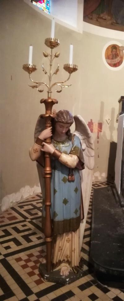 kandelaar met engel