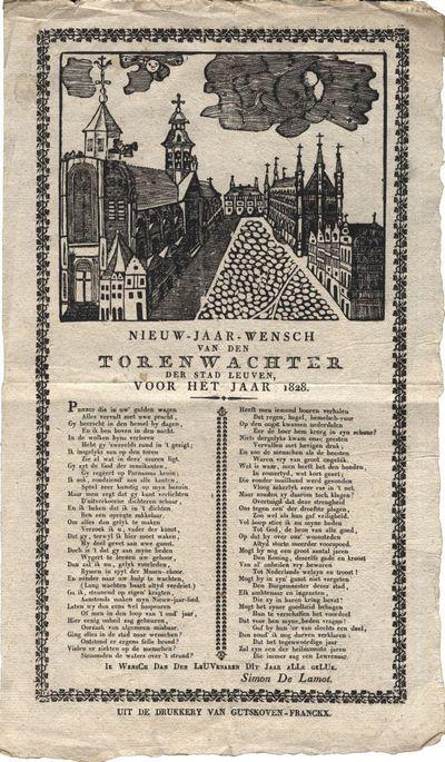 Nieuw-jaar-wensch van den torenwachter der stad Leuven, voor het jaar 1828