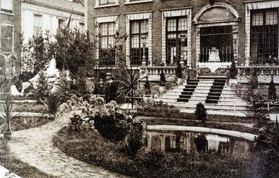 Foto: straatversiering: Park met de Goddelijke Herderin, Groenplein (Virga Jessefeesten, Hasselt, 1926)