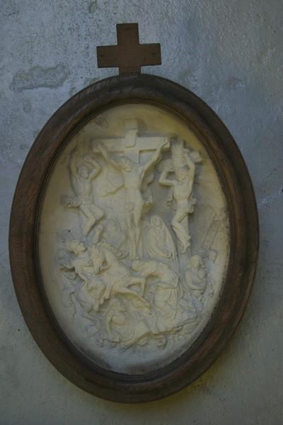 Christus aan het kruis met de twee moordenaars