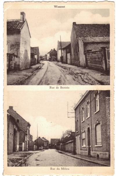 Waasmont- Wamont, rue de Bertrée en Rue du Milieu