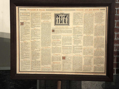 canonbord, gedrukte tekst (begin 20ste eeuw)