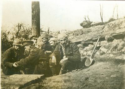 Steenstraet - Partie de Cartes, février 1916