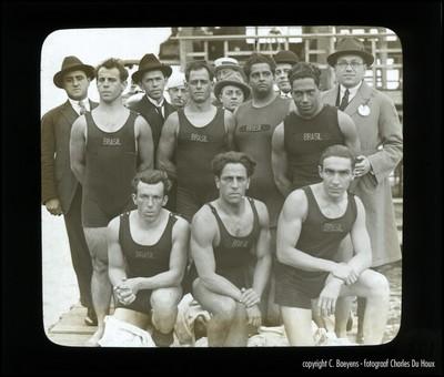Voor het eerst een Braziliaanse ploeg: Agostinho Sampaio de Sá, Orlando Amendola, Victorino Fernandes, Abrahão Soliture (1885-), João Jório, Angelo Gammaro, Alcides de Barros Paiva, Carlos Lopes en Edgard Ribeiro.