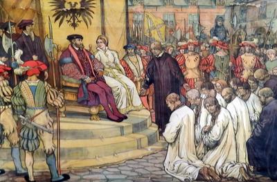 40. Onderwerping van de Gentenaars aan Keizer Karel